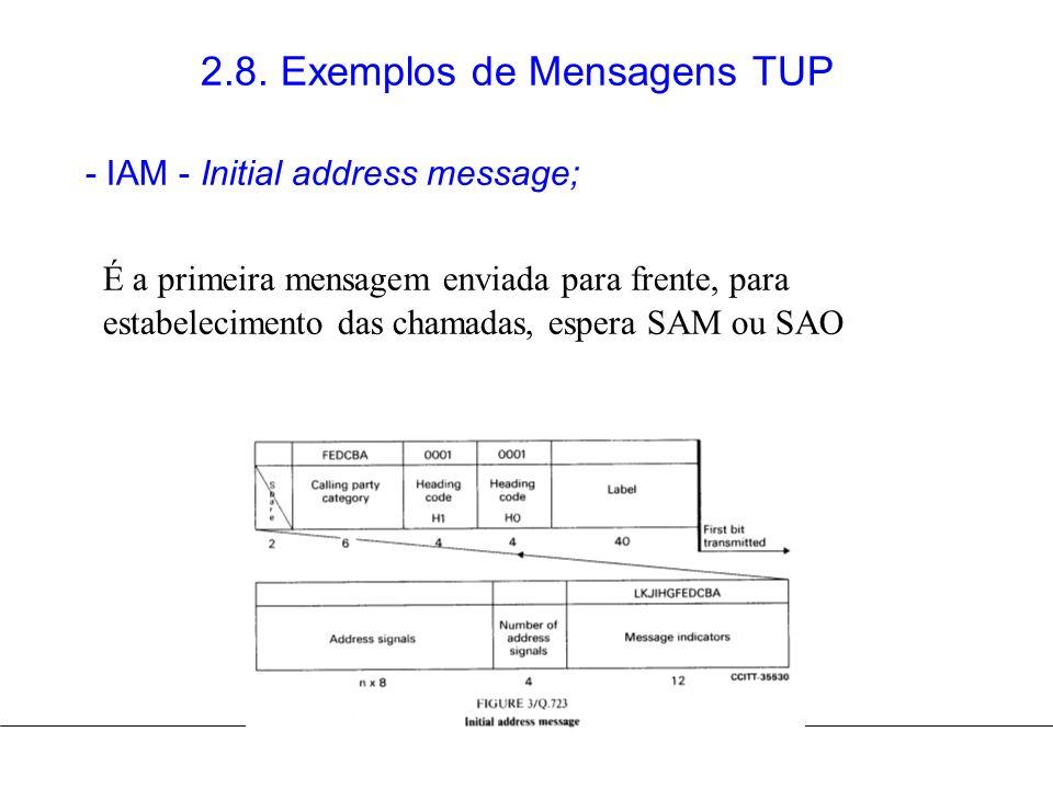 2.8. Exemplos de Mensagens TUP