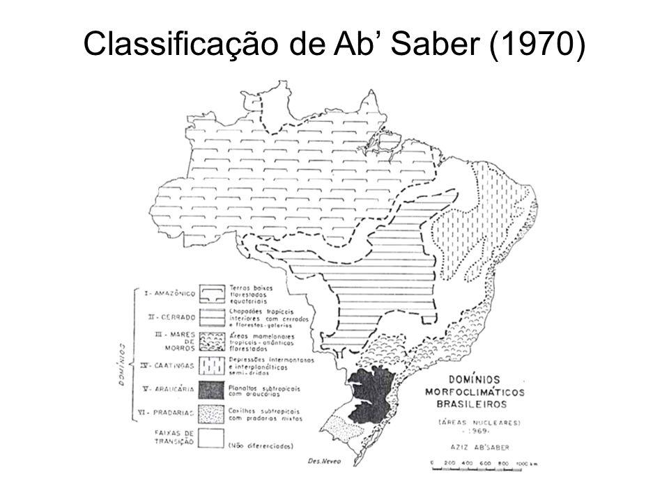 Classificação de Ab' Saber (1970)