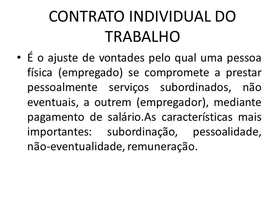 CONTRATO INDIVIDUAL DO TRABALHO