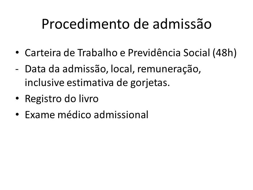 Procedimento de admissão