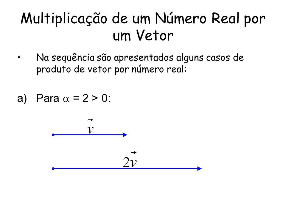 Multiplicação de um Número Real por um Vetor