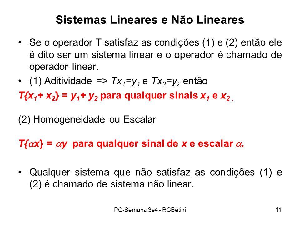 Sistemas Lineares e Não Lineares