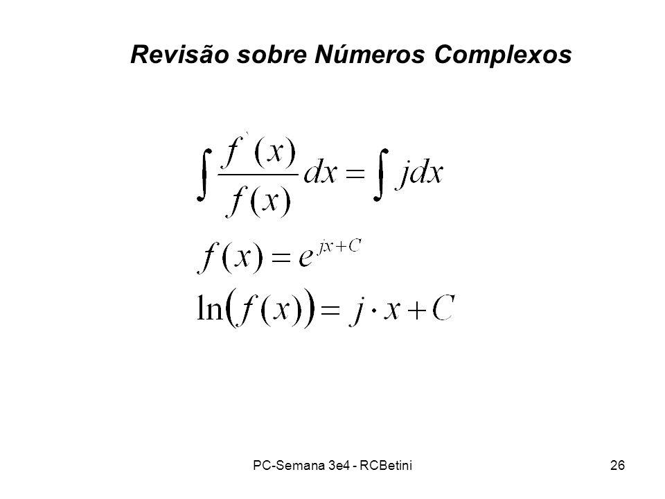 Revisão sobre Números Complexos