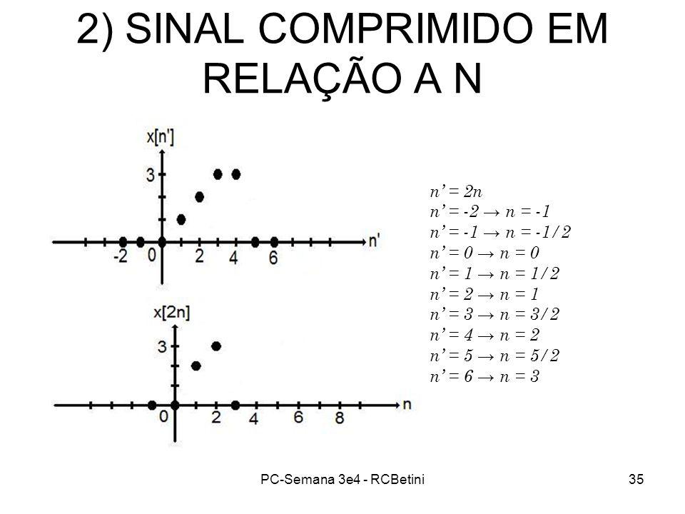 2) SINAL COMPRIMIDO EM RELAÇÃO A N