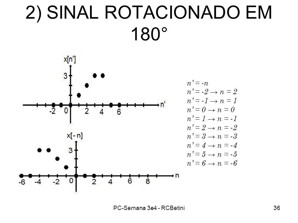 2) SINAL ROTACIONADO EM 180°