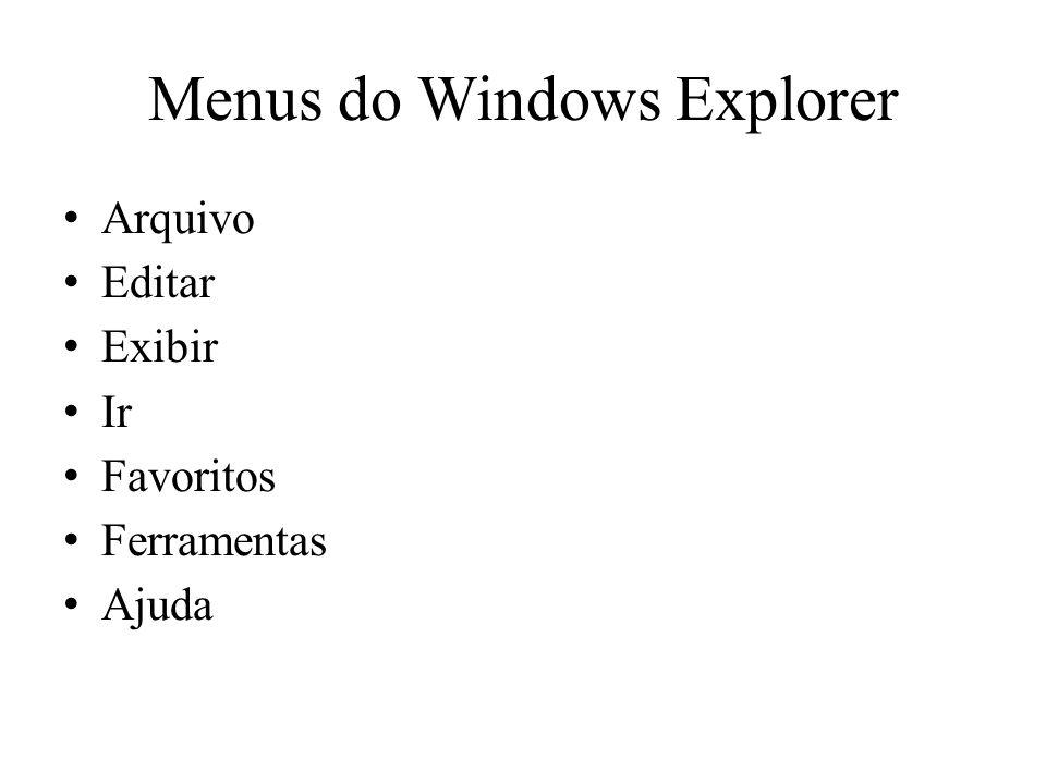 Menus do Windows Explorer
