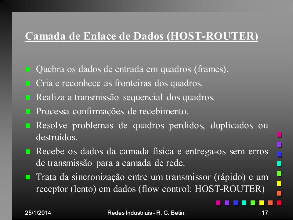 Camada de Enlace de Dados (HOST-ROUTER)