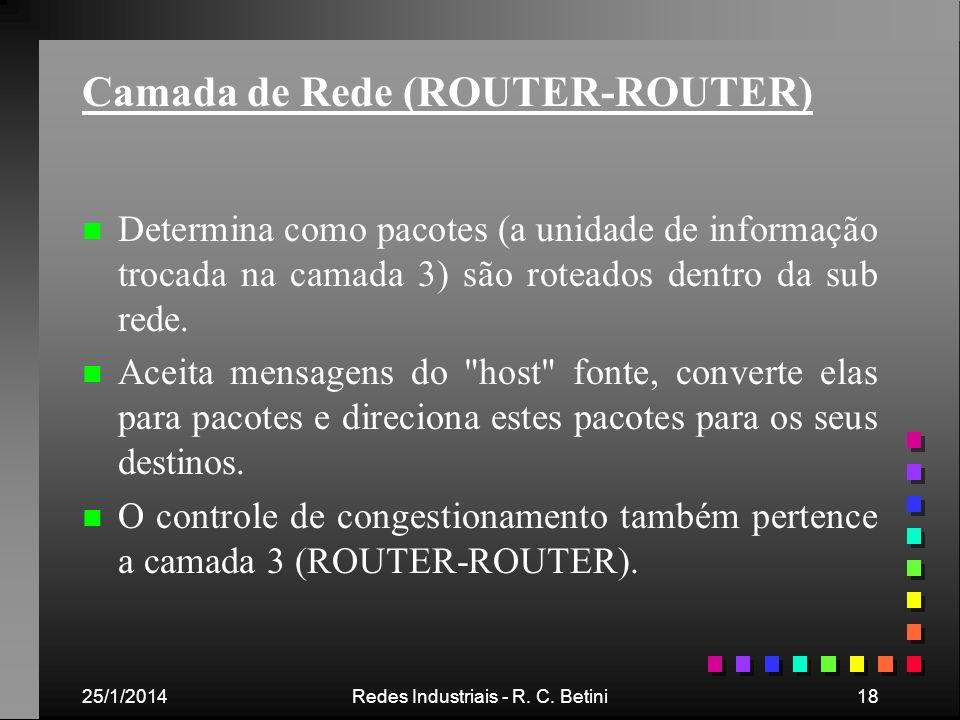 Camada de Rede (ROUTER-ROUTER)