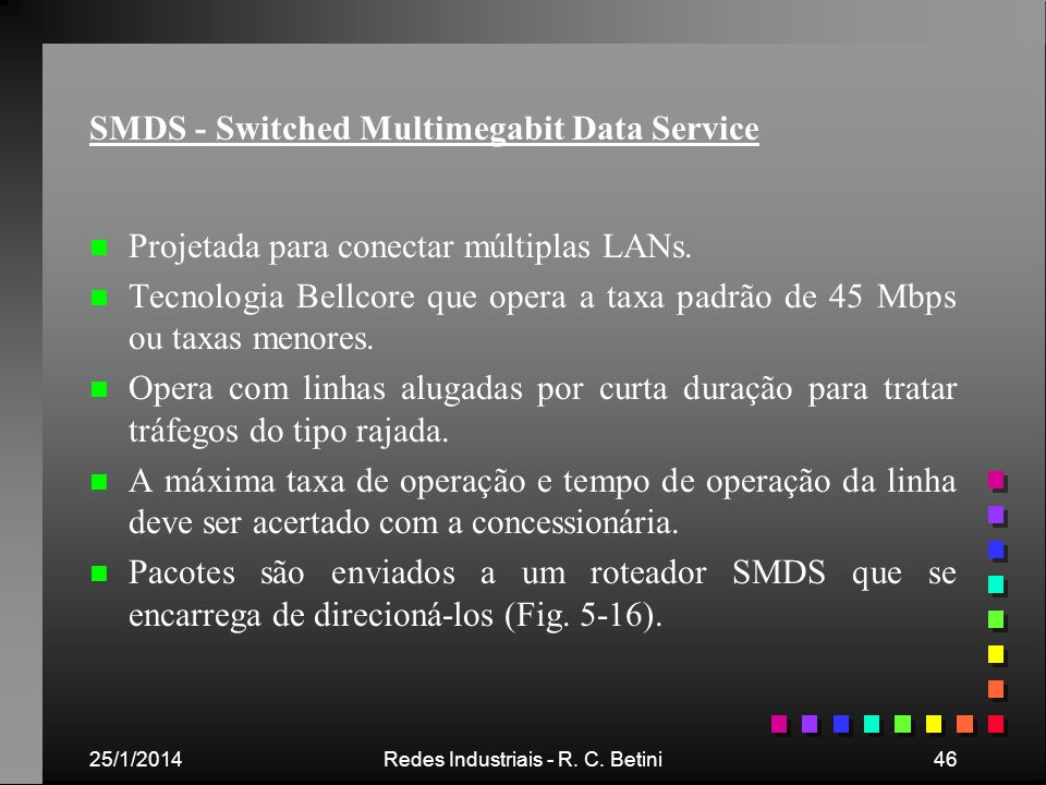SMDS - Switched Multimegabit Data Service