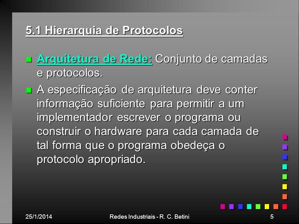 5.1 Hierarquia de Protocolos