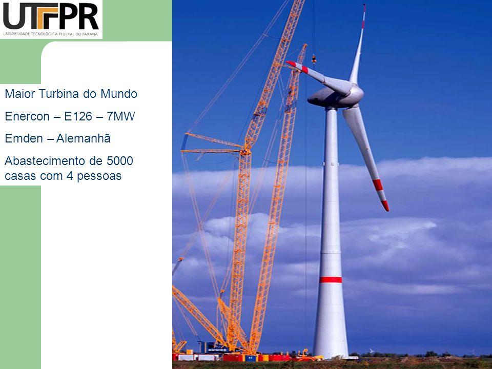 Maior Turbina do Mundo Enercon – E126 – 7MW. Emden – Alemanhã.