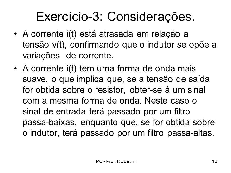 Exercício-3: Considerações.