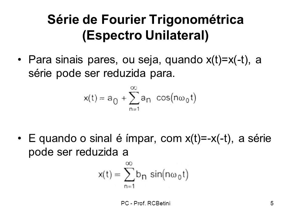 Série de Fourier Trigonométrica (Espectro Unilateral)