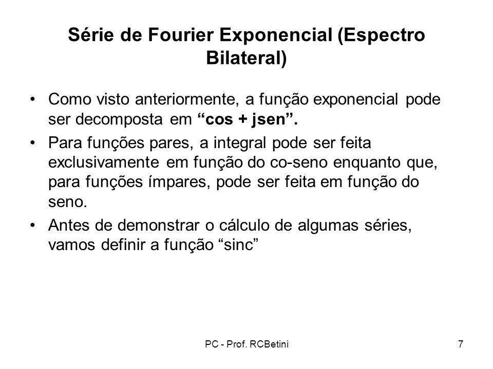 Série de Fourier Exponencial (Espectro Bilateral)