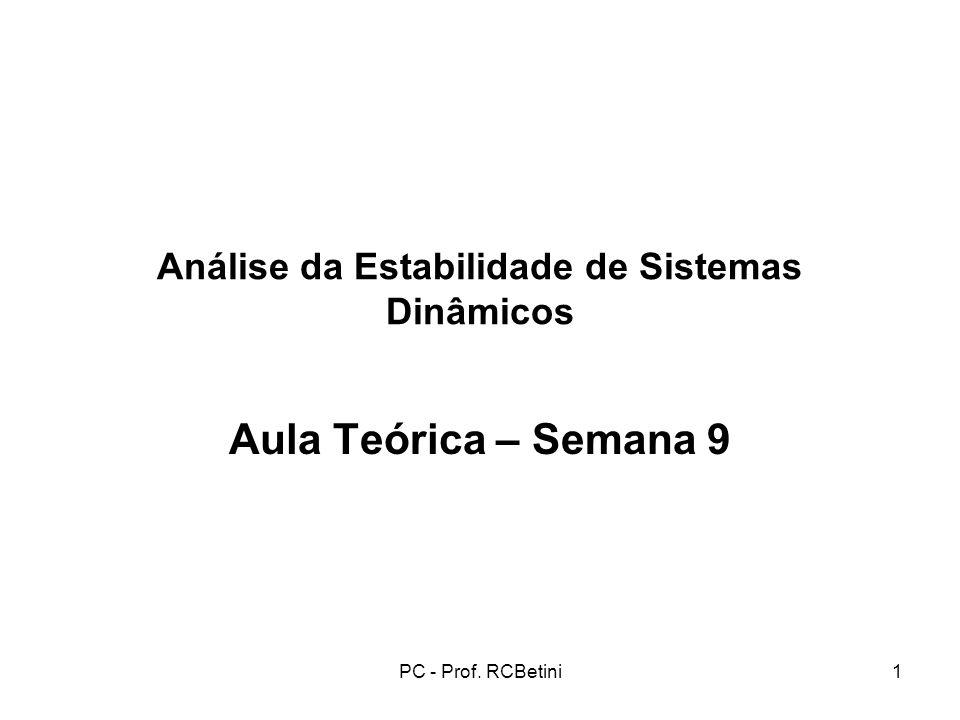 Análise da Estabilidade de Sistemas Dinâmicos