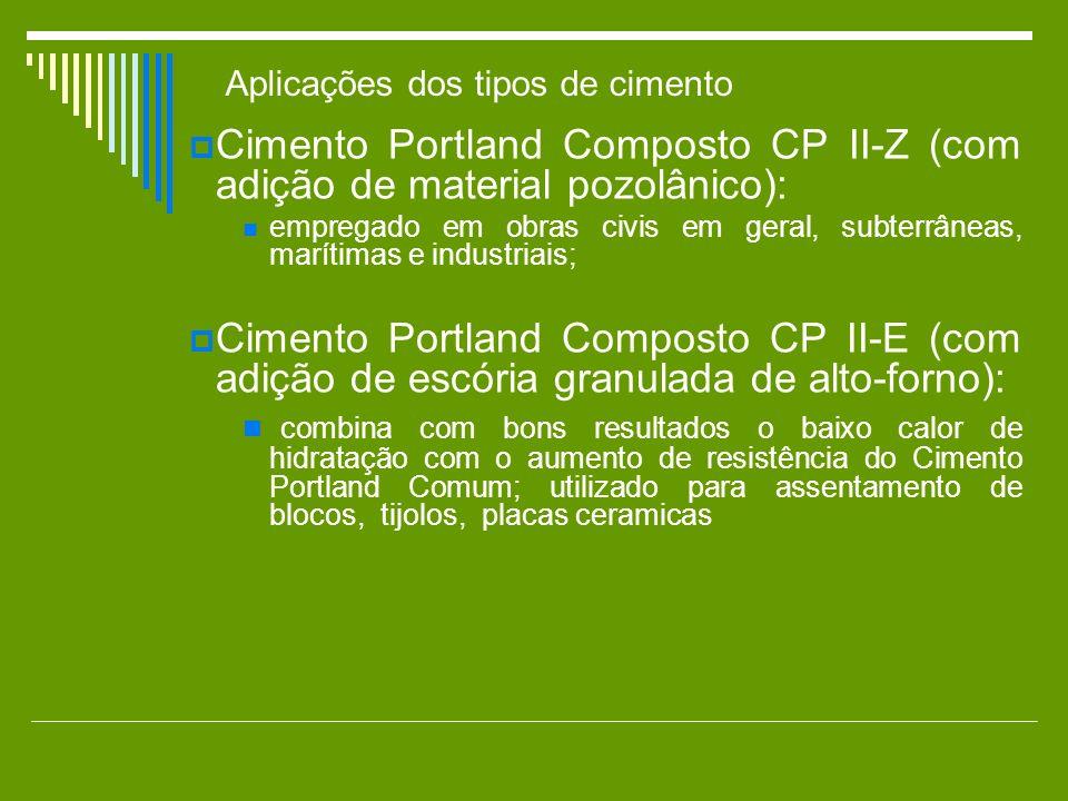 Cimento Portland Composto CP II-Z (com adição de material pozolânico):