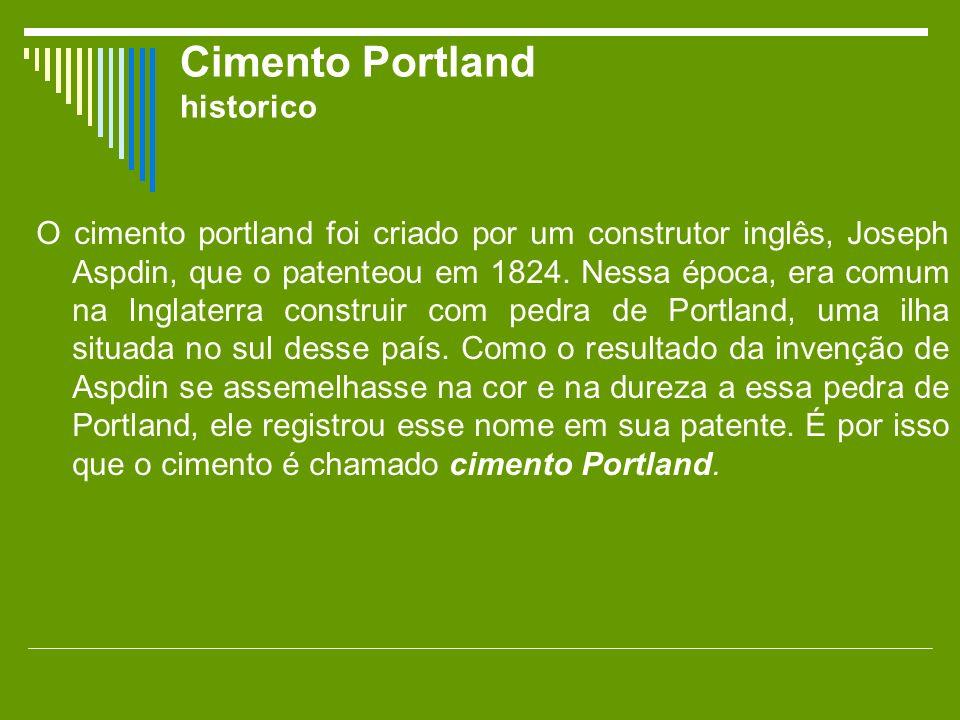 Cimento Portland historico