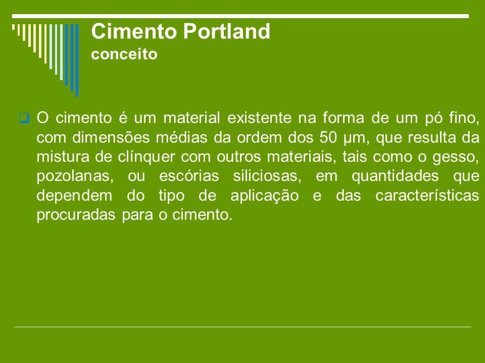 Cimento Portland conceito