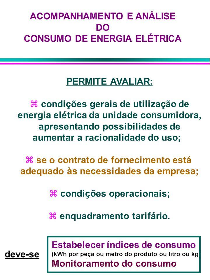 ACOMPANHAMENTO E ANÁLISE DO CONSUMO DE ENERGIA ELÉTRICA