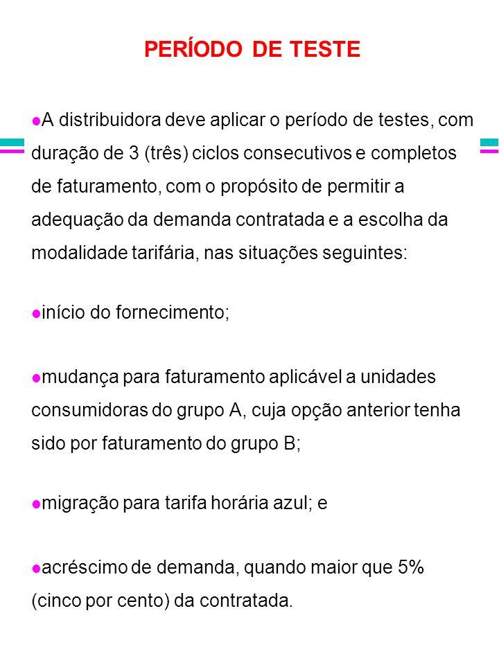 PERÍODO DE TESTE