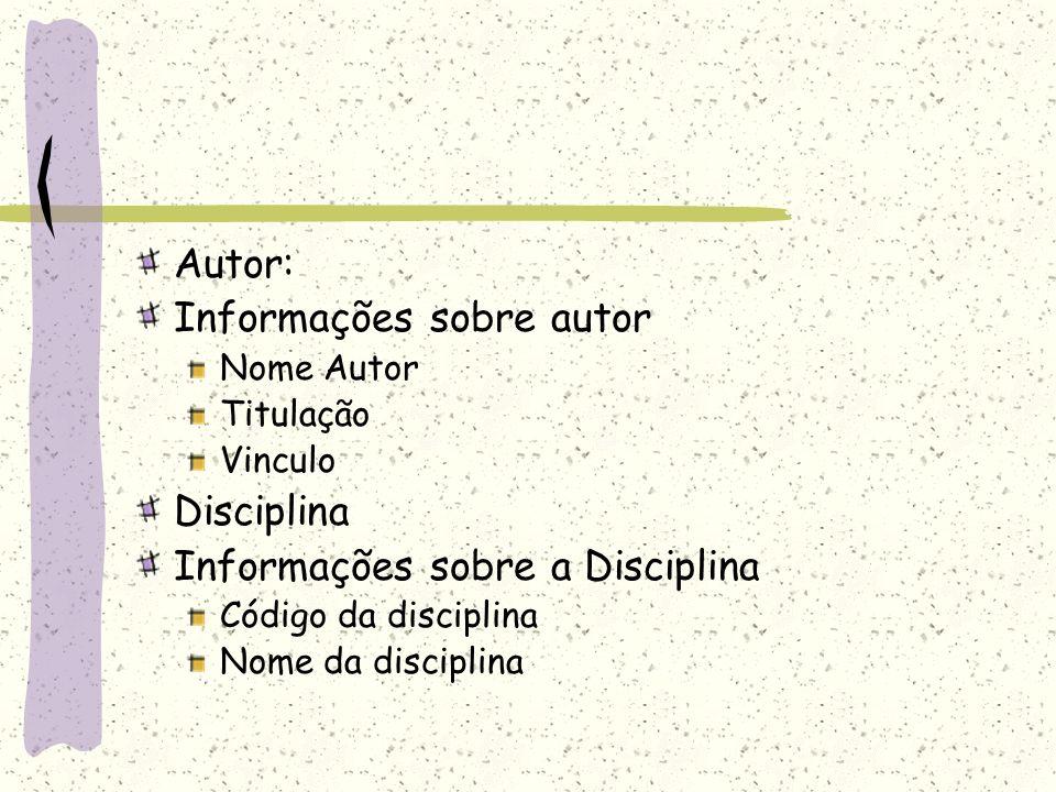 Informações sobre autor