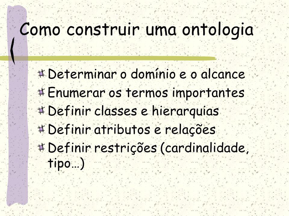 Como construir uma ontologia