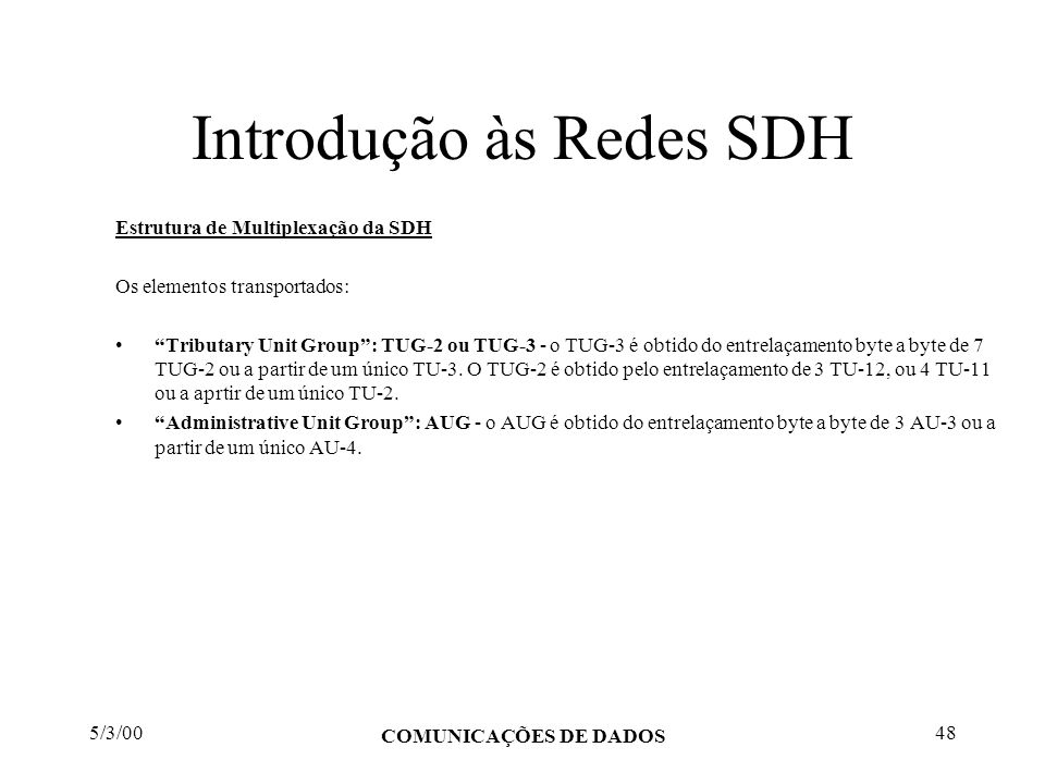 Introdução às Redes SDH