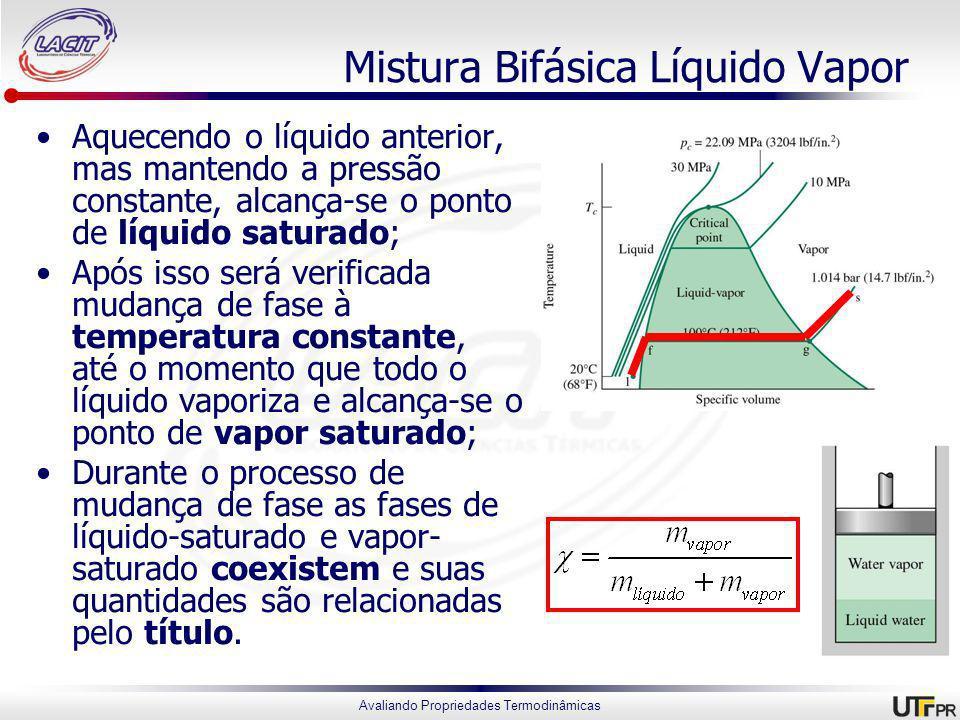 Mistura Bifásica Líquido Vapor