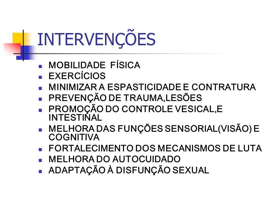 INTERVENÇÕES MOBILIDADE FÍSICA EXERCÍCIOS