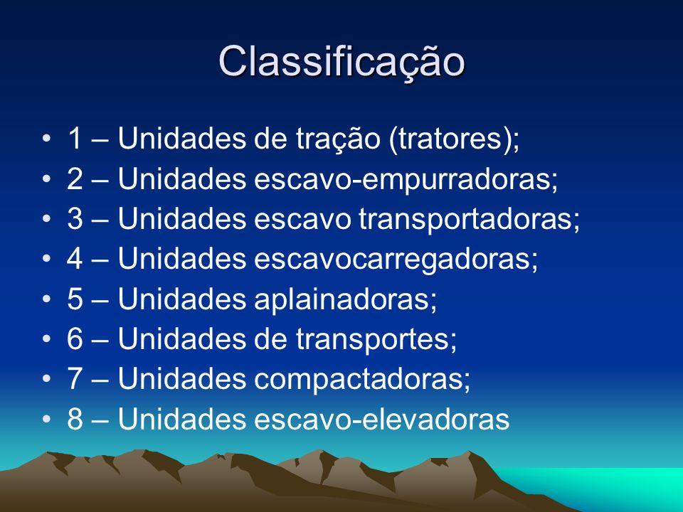 Classificação 1 – Unidades de tração (tratores);