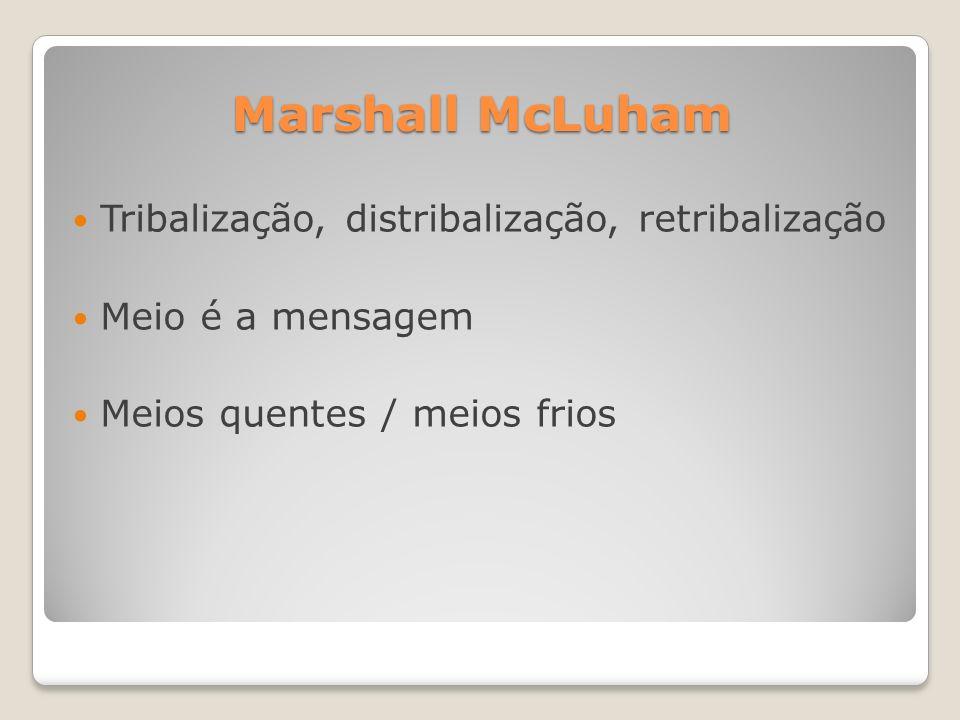 Marshall McLuham Tribalização, distribalização, retribalização