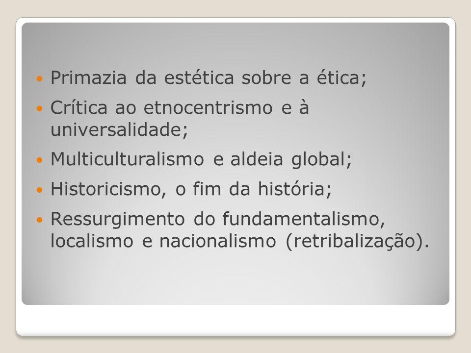 Primazia da estética sobre a ética;