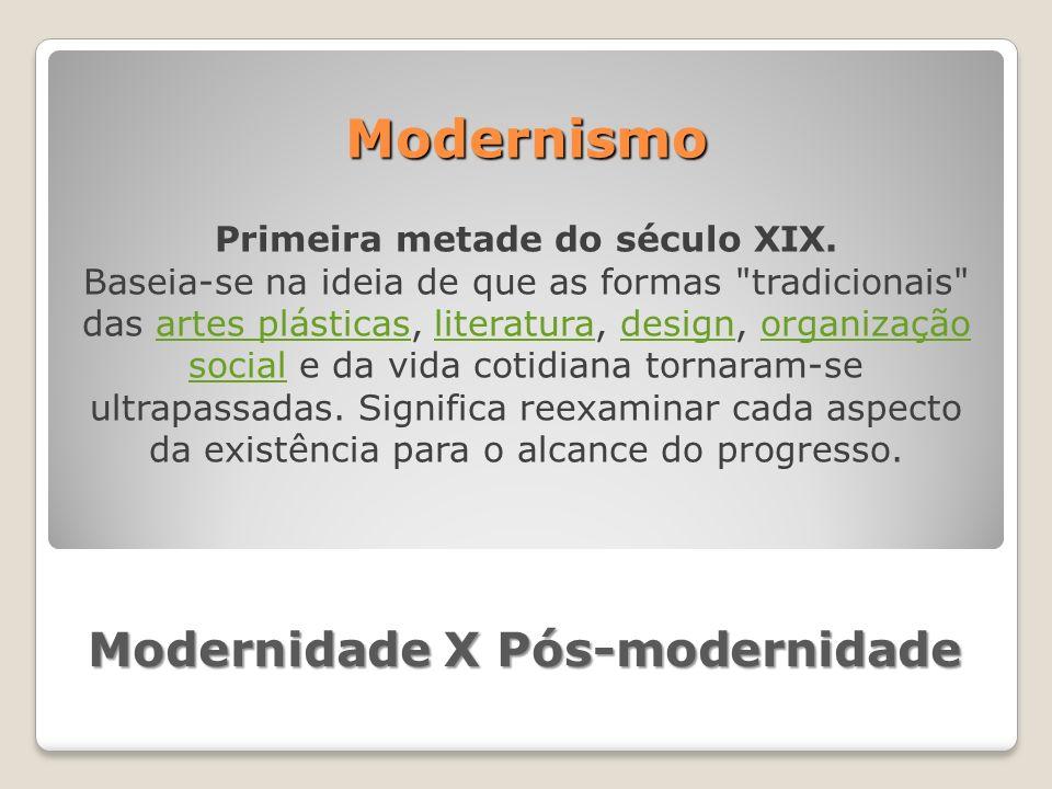 Modernidade X Pós-modernidade