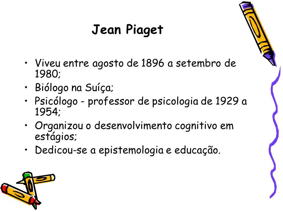 Jean Piaget Viveu entre agosto de 1896 a setembro de 1980;
