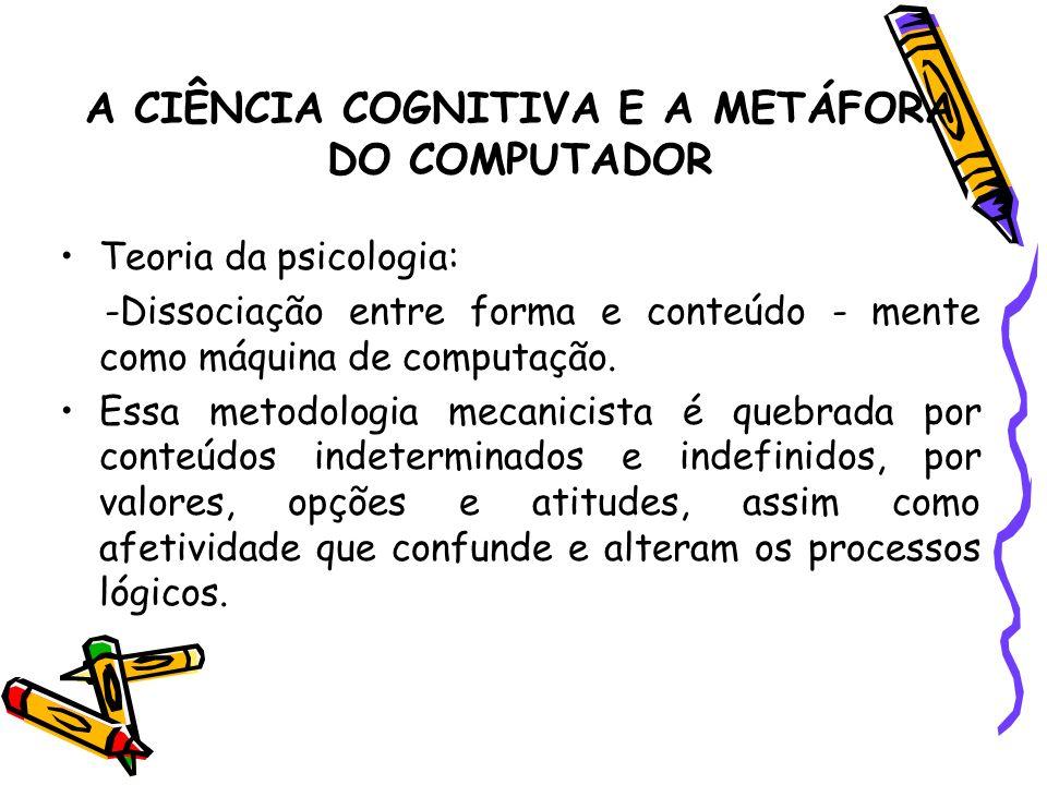 A CIÊNCIA COGNITIVA E A METÁFORA DO COMPUTADOR