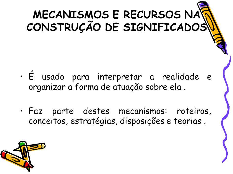 MECANISMOS E RECURSOS NA CONSTRUÇÃO DE SIGNIFICADOS