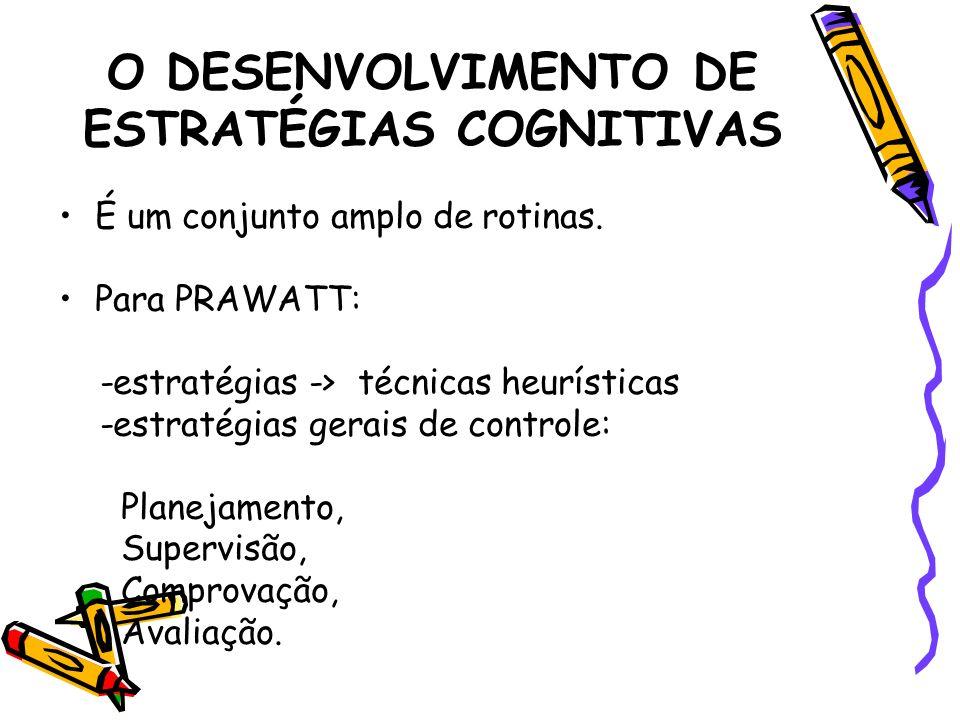 O DESENVOLVIMENTO DE ESTRATÉGIAS COGNITIVAS