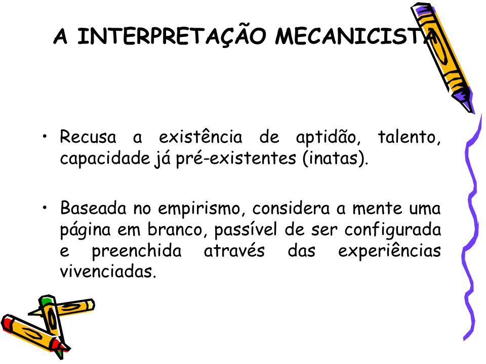 A INTERPRETAÇÃO MECANICISTA
