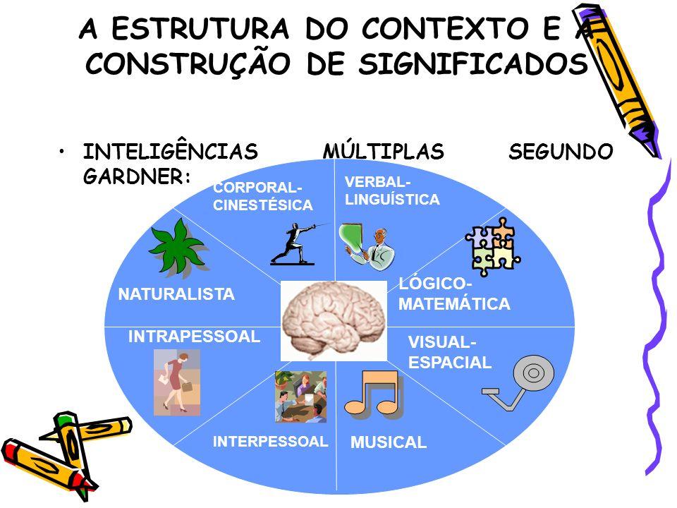 A ESTRUTURA DO CONTEXTO E A CONSTRUÇÃO DE SIGNIFICADOS