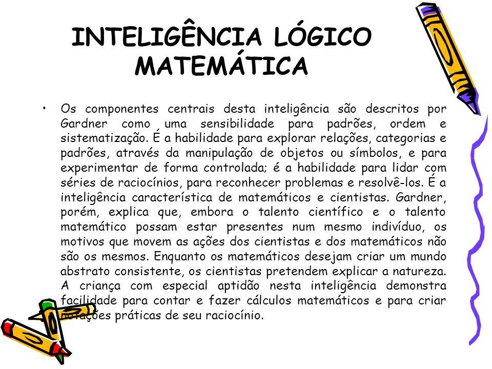 INTELIGÊNCIA LÓGICO MATEMÁTICA