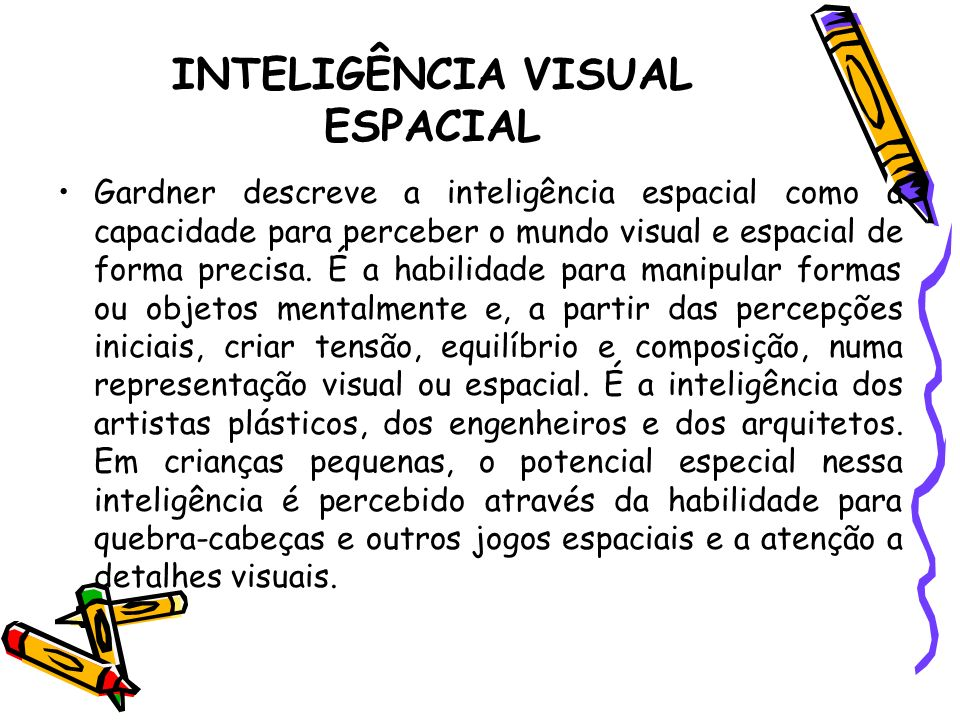 INTELIGÊNCIA VISUAL ESPACIAL