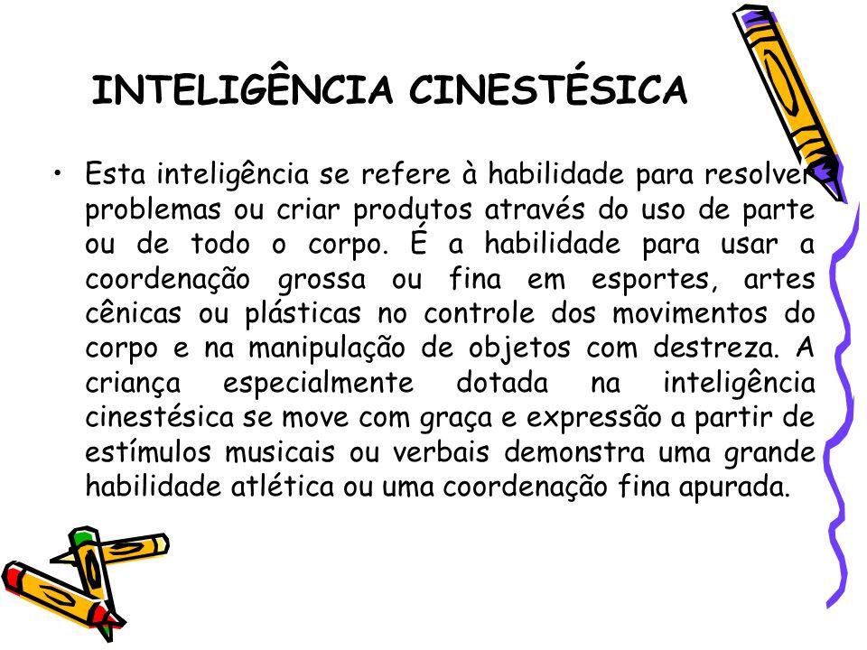 INTELIGÊNCIA CINESTÉSICA