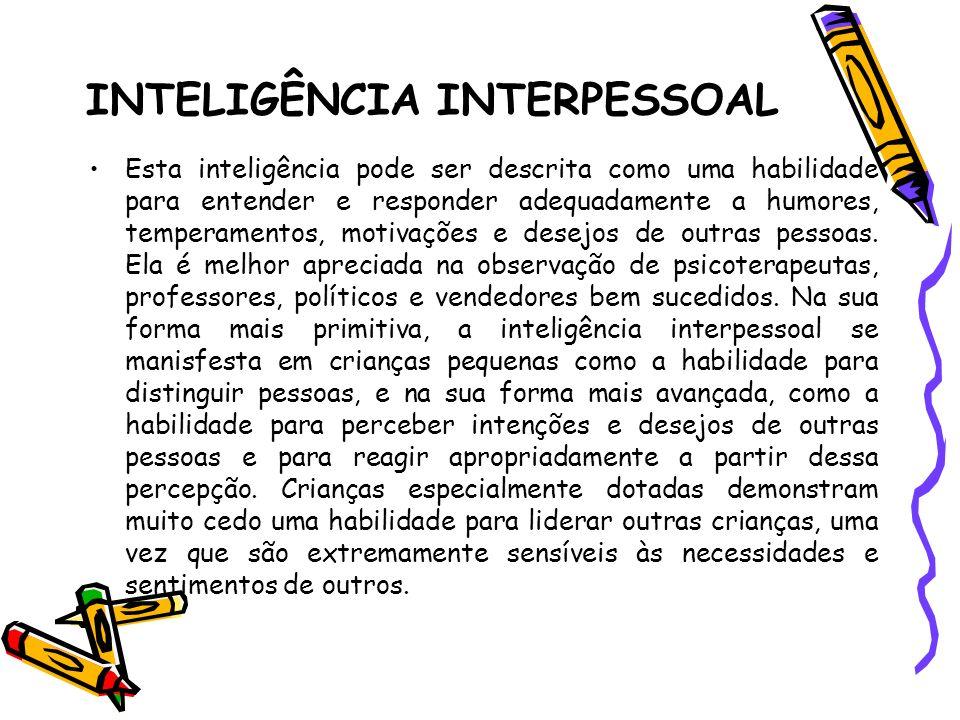 INTELIGÊNCIA INTERPESSOAL