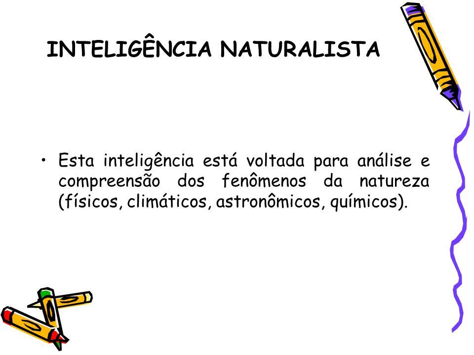 INTELIGÊNCIA NATURALISTA