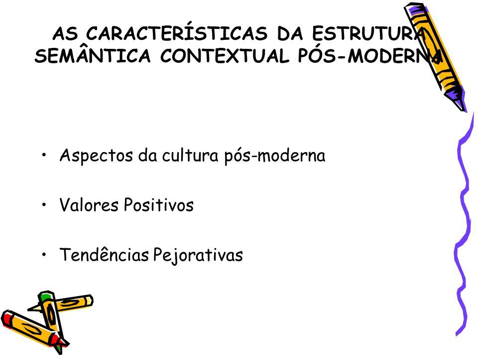 AS CARACTERÍSTICAS DA ESTRUTURA SEMÂNTICA CONTEXTUAL PÓS-MODERNA
