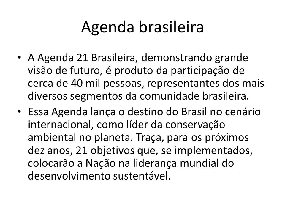 Agenda brasileira