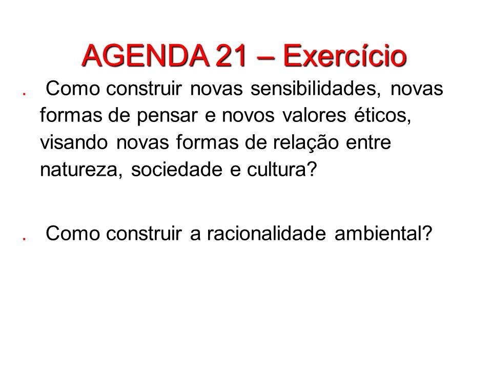 AGENDA 21 – Exercício
