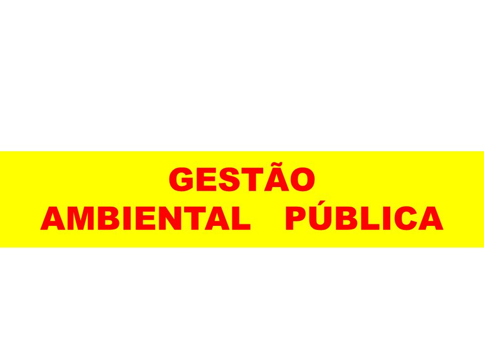 GESTÃO AMBIENTAL PÚBLICA