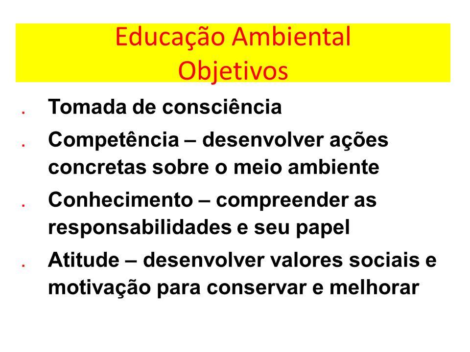 Educação Ambiental Objetivos