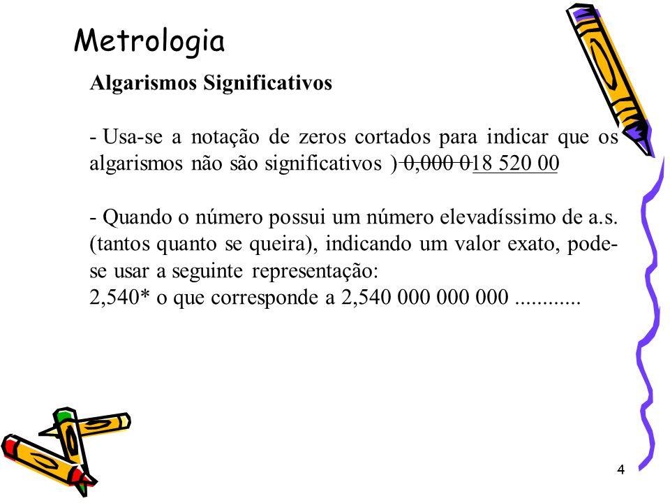 Metrologia Algarismos Significativos